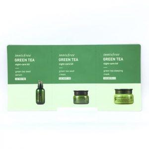 Innisfree Green Tea Night-Care Kit 2ml+2ml+2ml
