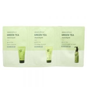 Innisfree Green Tea Cleansing Kit minta 2ml+2ml+2ml