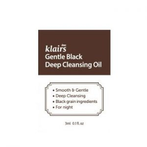 Klairs Gentle Black Deep Cleansing Oil minta