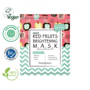 Huangjisoo piros gyümölcsös világosító maszk